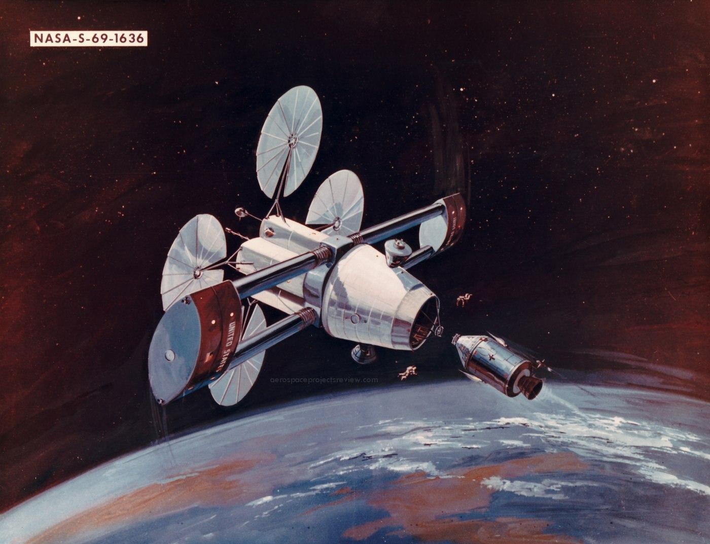 NASA Art: rotating space station – Aerospace Projects ...