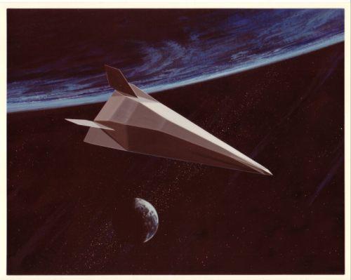 McDonnell Douglas TAV in orbit art