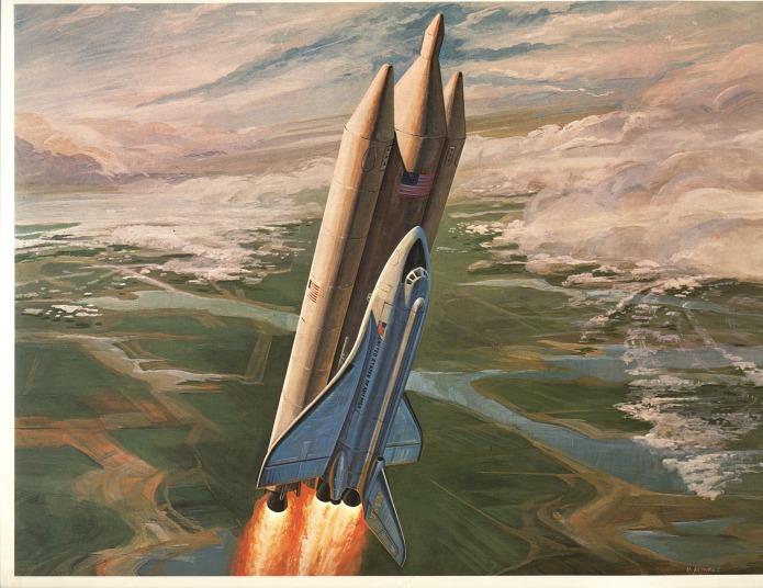 Old Shuttle Art - Launch