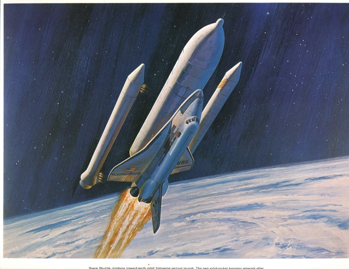 Old Shuttle Art - SRB Sep